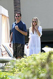 Molly Sims and Scott Stuber by the pool of the Maui Four Seasons.