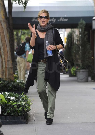 Jennifer Aniston strolled in Manhattan.