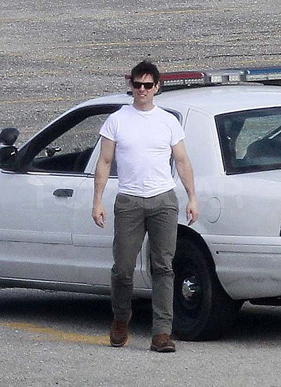 Tom Cruise filming One Shot in Pittsburgh.