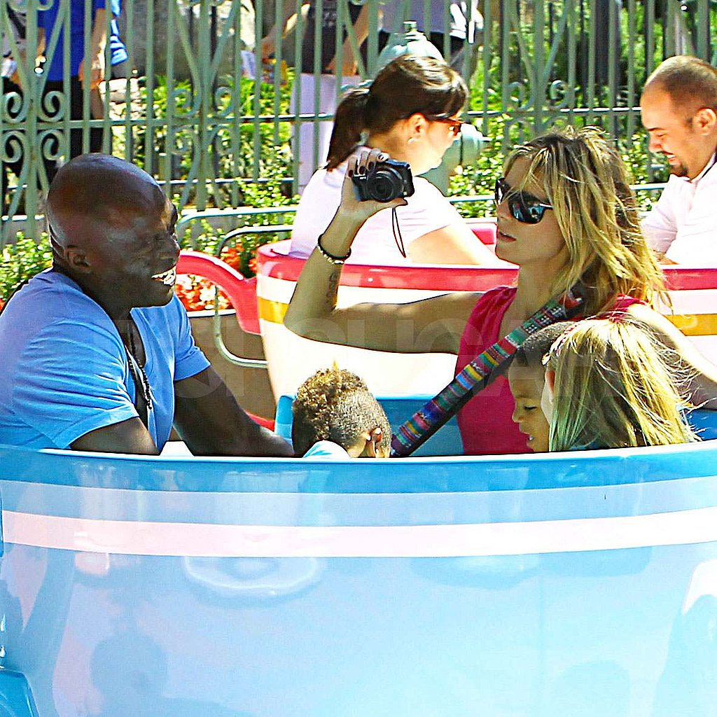 Heidi Klum and Seal with their family at Disneyland.