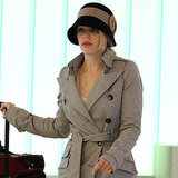 Rachel McAdams's blond locks peeked out from under her hat.