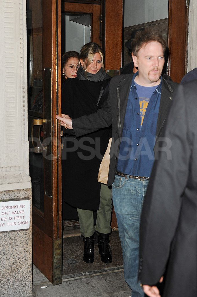 Jennifer Aniston and friends go to dinner at Craft.