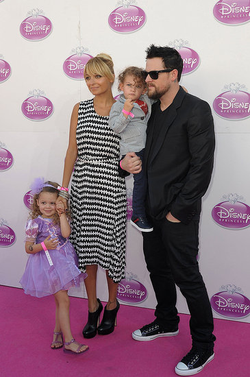 Nicole Richie and Joel Madden at Disney's Princess Royal Court Celebration with Sparrow and Harlow.
