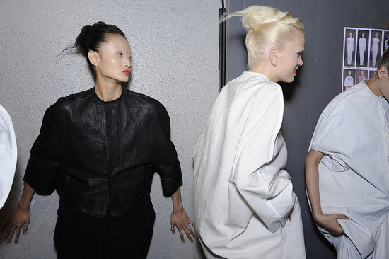 Glamorous Ghouls and Gorgeous Girls — Backstage at Lanvin, Dior, Balmain, Carven, and Rick Owens