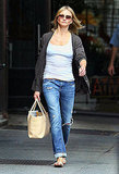 Cameron Diaz out after breaking up with Alex Rodriguez.