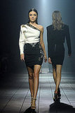 Miranda Kerr walks for Lanvin during Paris Fashion Week.