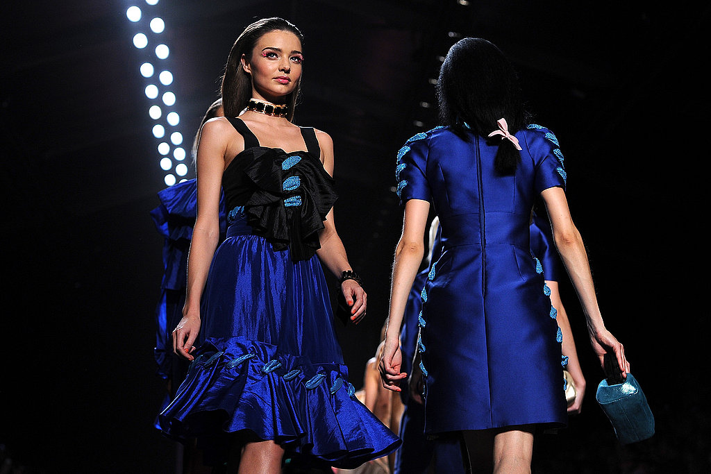 Miranda Kerr dressed up for Fashion Week.