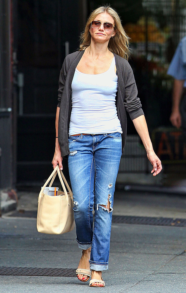 Cameron Diaz out in NYC's West Village.