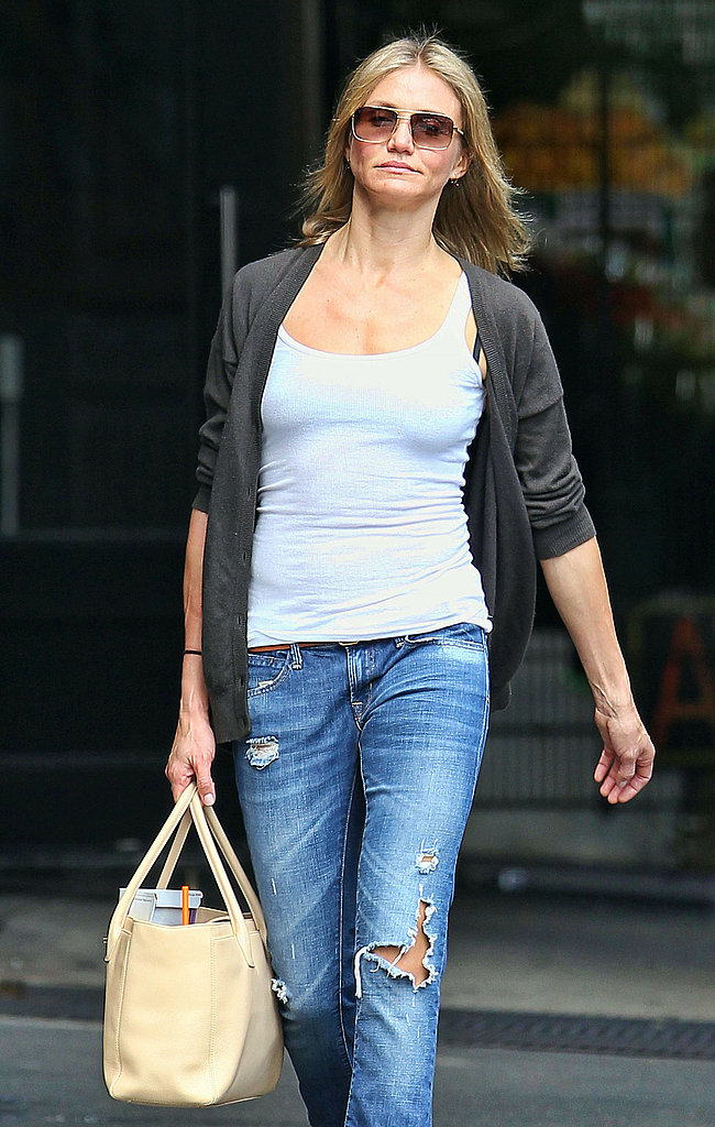 Cameron Diaz out for a walk.