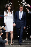 Paul McCartney and Nancy Shevell walked out of London's Marylebone Town Hall after getting married.