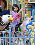 Suri Cruise played on a carousel in Pittsburg.
