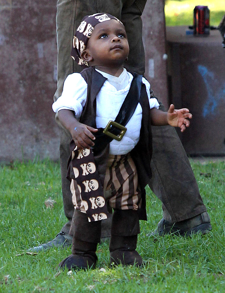 Louis Bullock had a blast in pirate gear at a party in a park in LA.