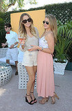 Lauren Conrad and Lauren Bosworth wore pastels at the Veuve Clicquot Polo Classic.