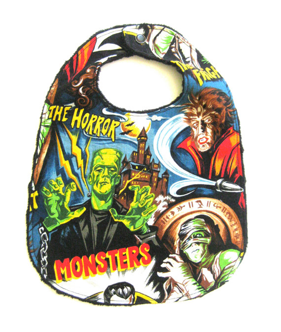 Movie Monsters Halloween Bib ($10)