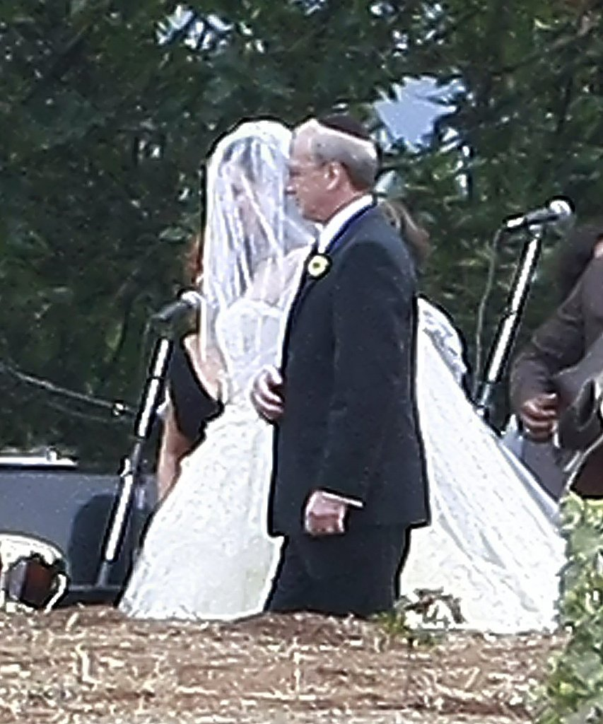 Lauren's father walked her down the aisle.
