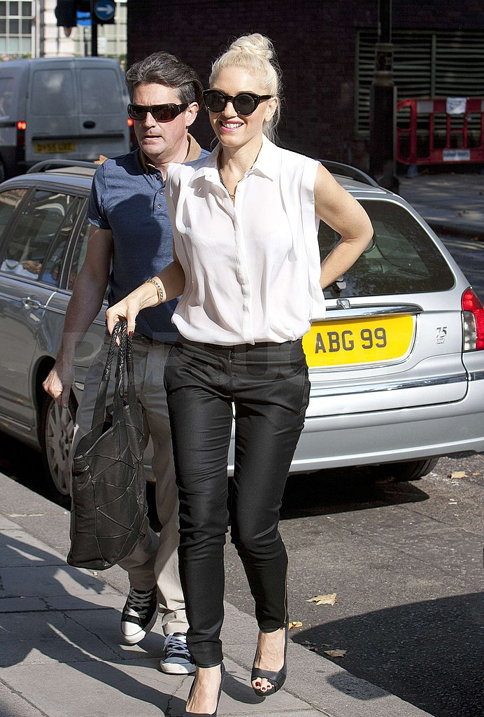 Gwen Stefani and a friend hit the London streets.