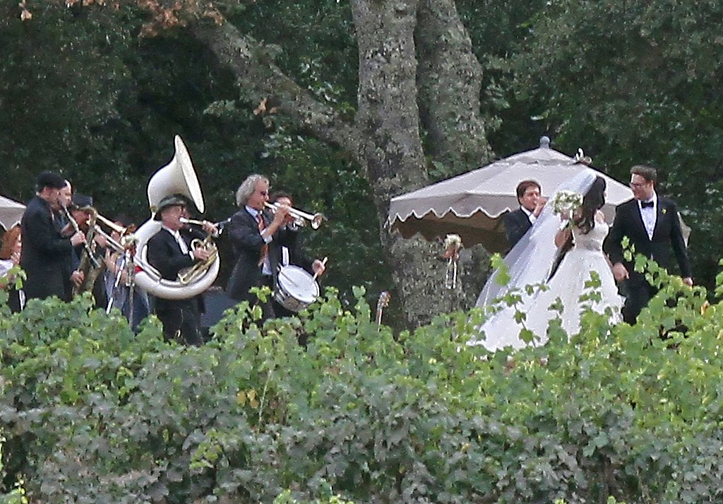 The band played as Seth and Lauren walked out as husband and wife.