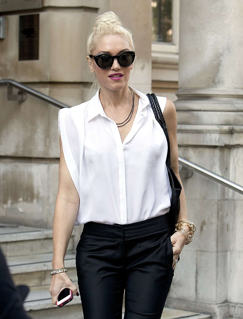 Gwen Stefani rocked a high bun on her birthday.
