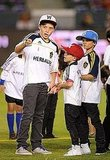 Brooklyn Beckham got the attention of Romeo Beckham and Cruz Beckham.