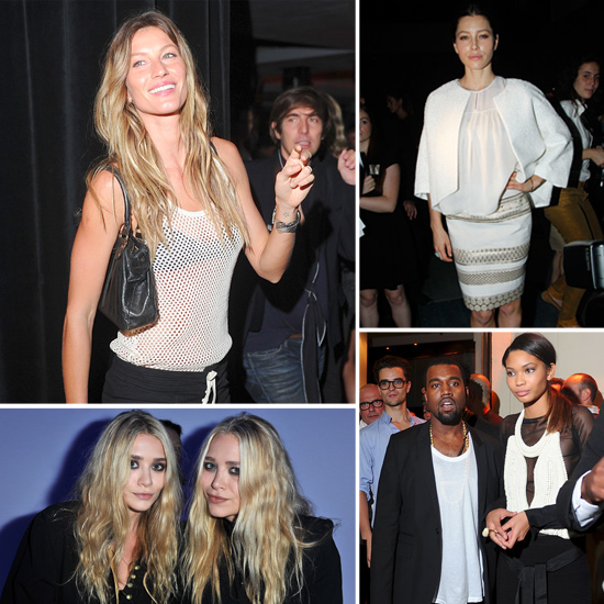 Jessica, Mary-Kate, Ashley, Kanye, and More Stars Keep Paris Fashion Week Going Strong