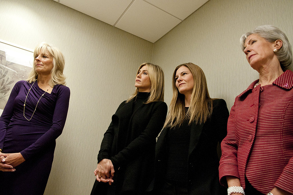Second Lady Jill Biden and Jennifer Aniston lent their support to the cause.