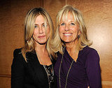 Jennifer Aniston smiles with Dr. Jill Biden.