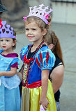 Honor wore a princess costume.