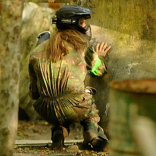 Angelina Jolie and Brad Pitt Paintball Pictures