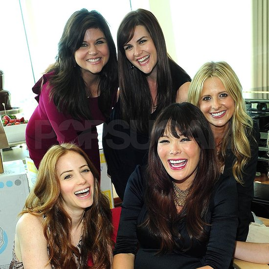 Tiffani Thiessen, Sara Rue, Sarah Michelle Gellar, and Jaime Ray Newman celebrated with mom-to-be Lindsay Price.