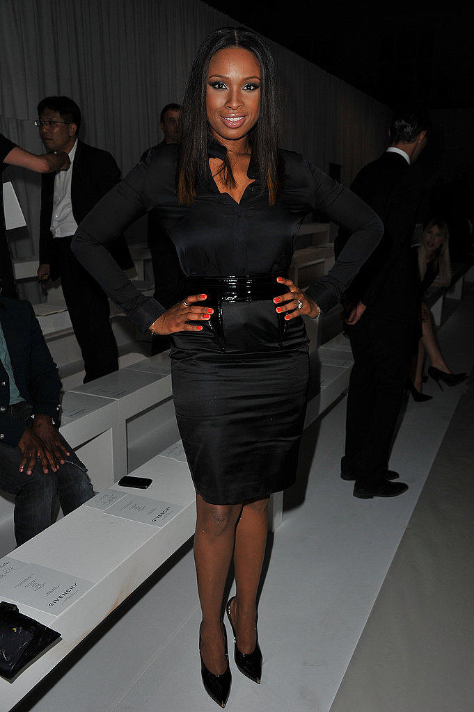 Jennifer Hudson struck a pose at Givenchy.