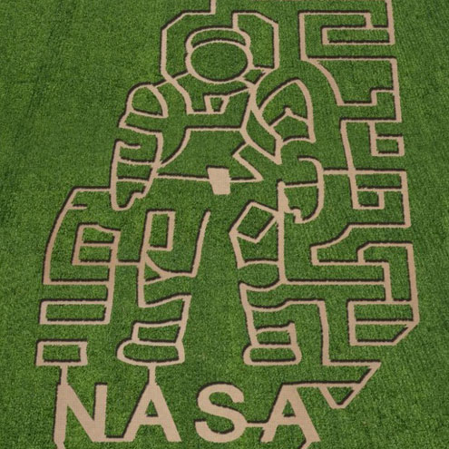 NASA Space Corn Mazes