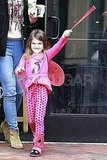 Suri Cruise played a game as a ladybug.