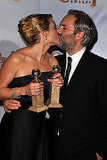 Kate Winslet and Sam Mendes locked lips at the Golden Globes in 2009.