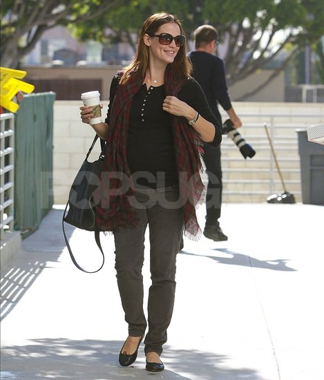 Jennifer Garner smiled while running errands in LA.