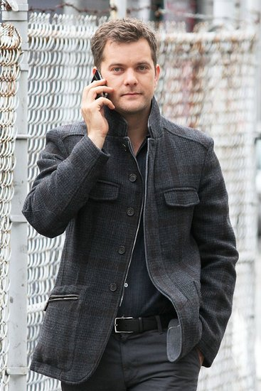 Joshua Jackson on the set of Fringe in Vancouver.