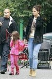 Katie Holmes and Suri Cruise walked through Pittsburg.
