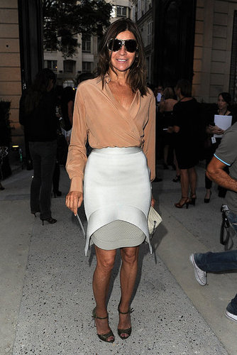 Carine Roitfeld at Paris Fashion Week