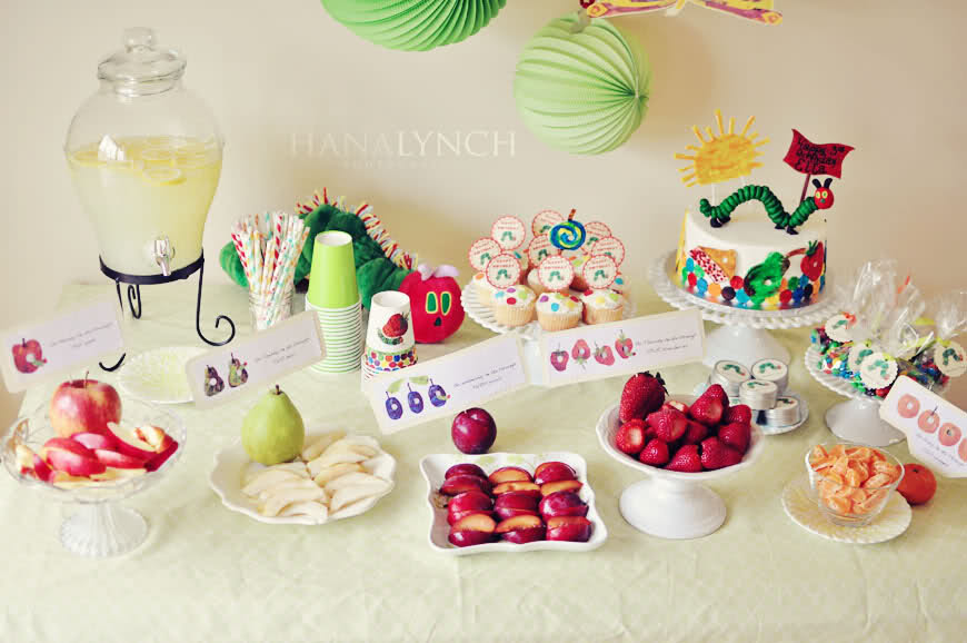 The Very Hungry Caterpillar Party Table