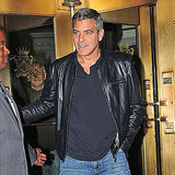 George Clooney left a hotel in NYC.