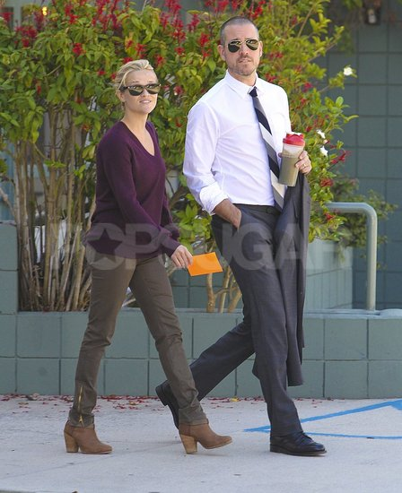 Reese Witherspoon and Jim Toth walked side by side in LA.