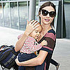 Miranda Kerr and Flynn Bloom Arriving at Heathrow Pictures