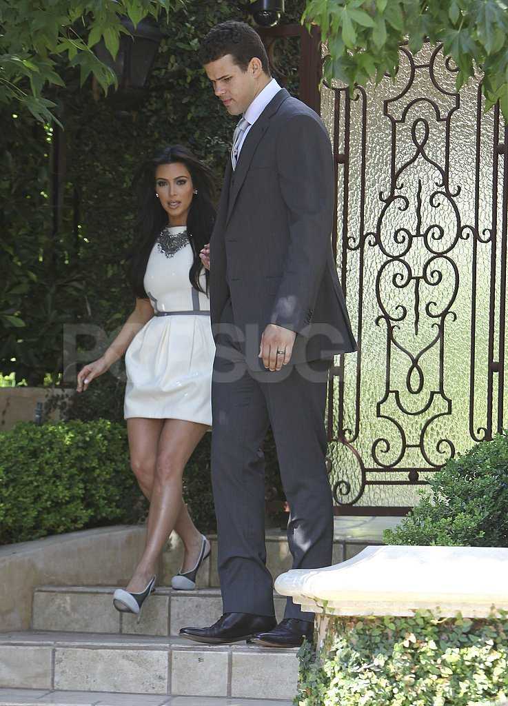 Kim Kardashian and Kris Humphries left their house in LA.