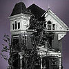 Legos Victorian House Halloween Picture