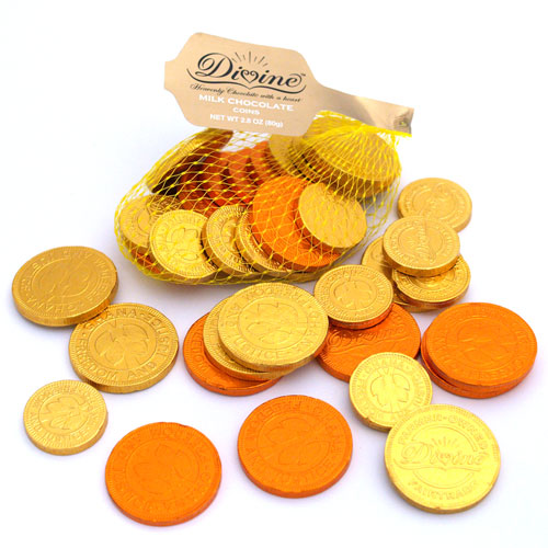 Divine Chocolate Milk Chocolate Coins
