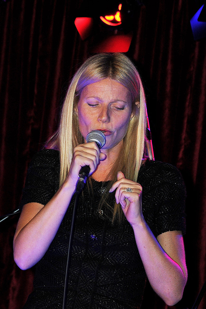 Gwyneth Paltrow crooned in London.
