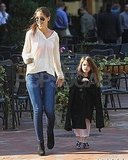 Katie Holmes and Suri Cruise made their morning Starbucks run in Pittsburg.