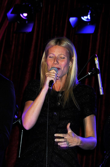 Gwyneth Paltrow showed off her vocal ability in London for Prince Philip.