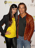 Camila Alves and Matthew McConaughey cuddle up!