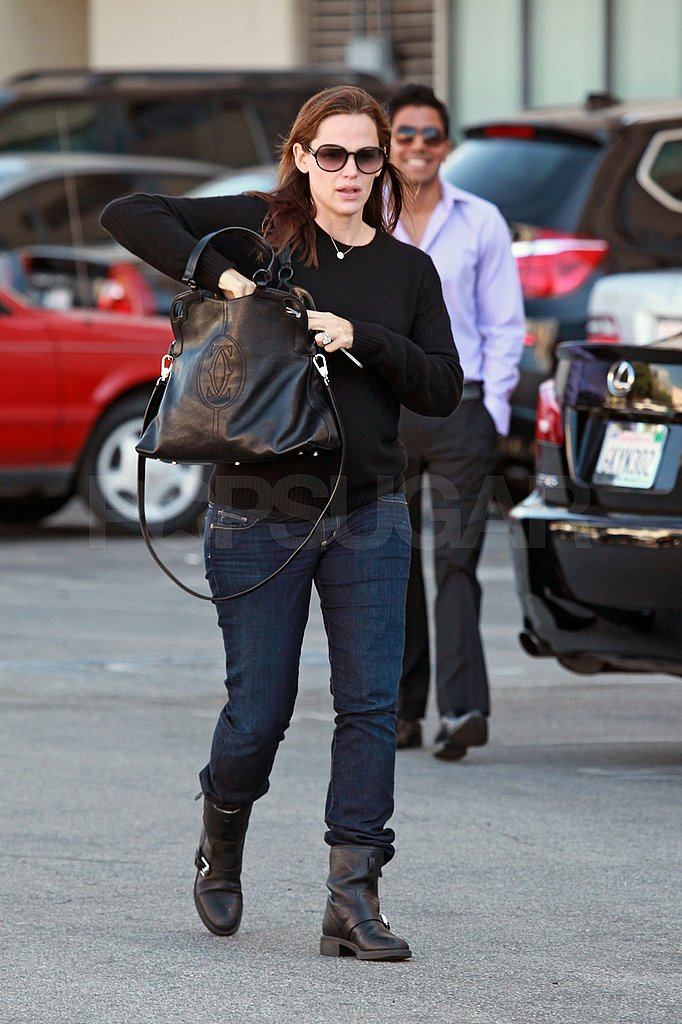 Jennifer Garner wore a black shirt and boots to an appointment in LA.