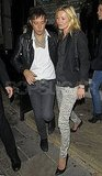 Kate Moss and husband Jamie Hince leave Stella McCartney's second 40th birthday party at London's The Cow pub.